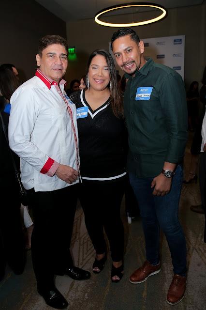 Bismark Morales, Iliena Then y Jonaly Guzman.