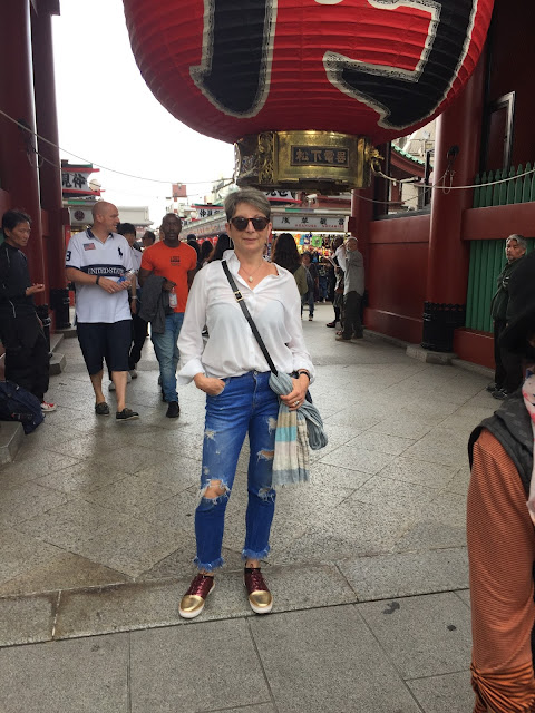 In Asakusa in front of of Sensoji Temple