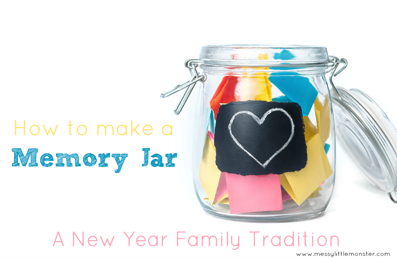 New years family tradition. How to make a memory jar.