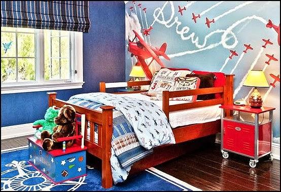 Dormitorio infantil temática aérea