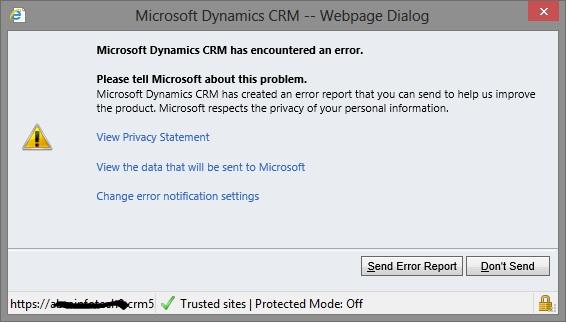 Microsoft Dynamics Corner Switching off \