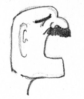 yelling guy with a mustache
