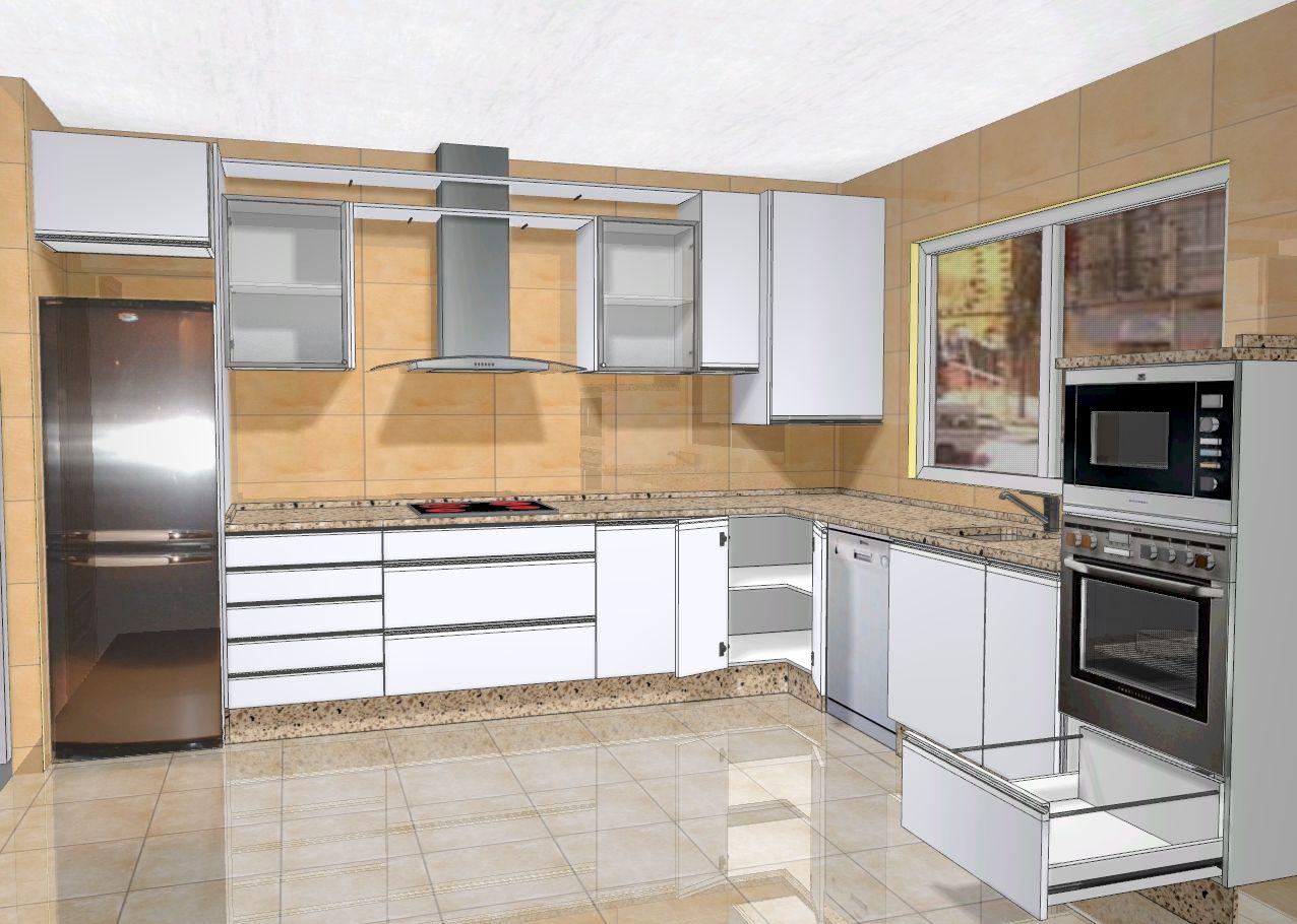 Cocina Moderna Y Antigua | Contemporáneo Lámpara Luminosa Cocina ...
