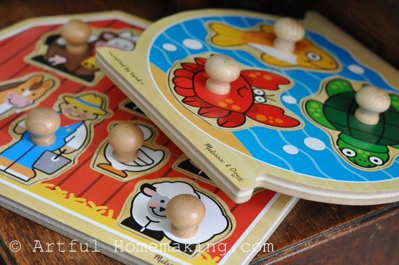 Fine Motor Coordination: Keeping Little Ones Hands Busy. jumbo knob farm puzzle