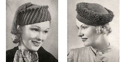 Popcorn Crochet Hat Pattern is Vintage 1930s