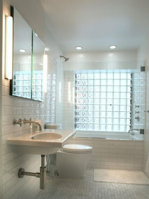 Basement Bathroom Ideas Glass Blocks