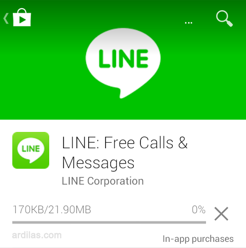 Proses download dan instal - Cara Download & Install Aplikasi Line - Android