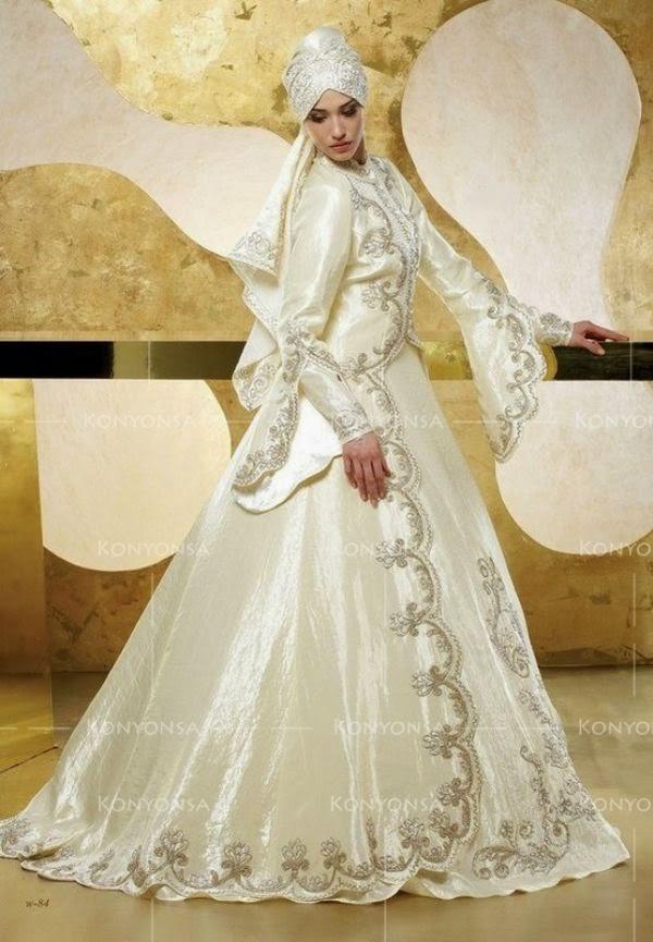 Gaun Pengantin Muslimah Modern Terbaru 2017