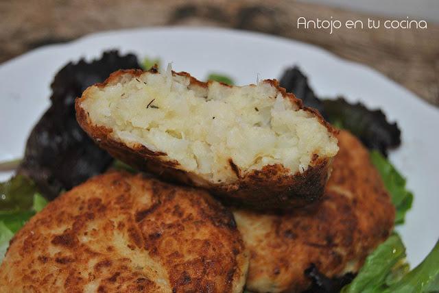 Hamburguesas de coliflor y patata