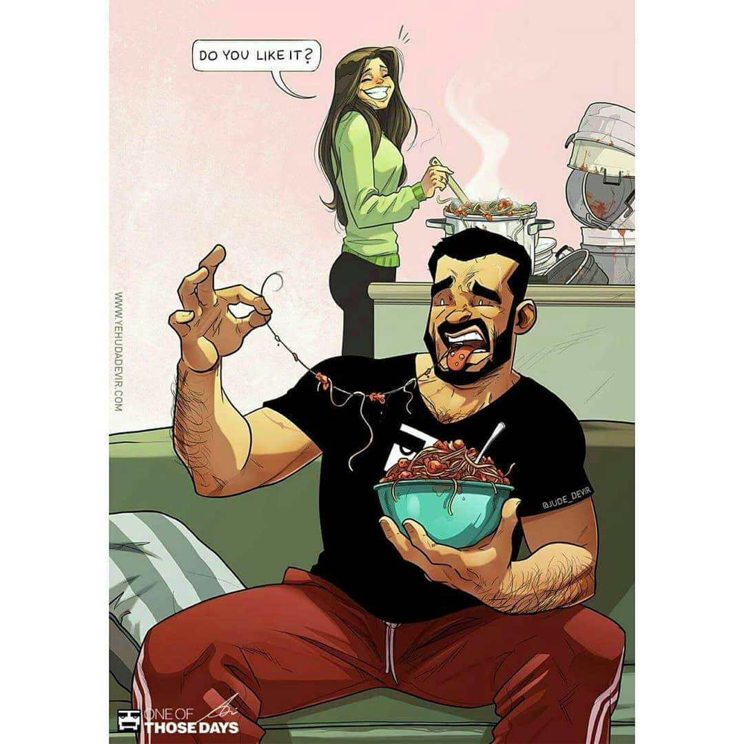70 Fascinating Illustrations Of A Married Couple S