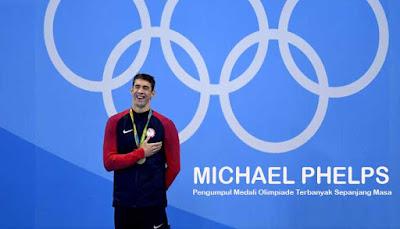 Biodata Michael Phelps, Pengumpul Medali Olimpiade Terbanyak Sepanjang Masa