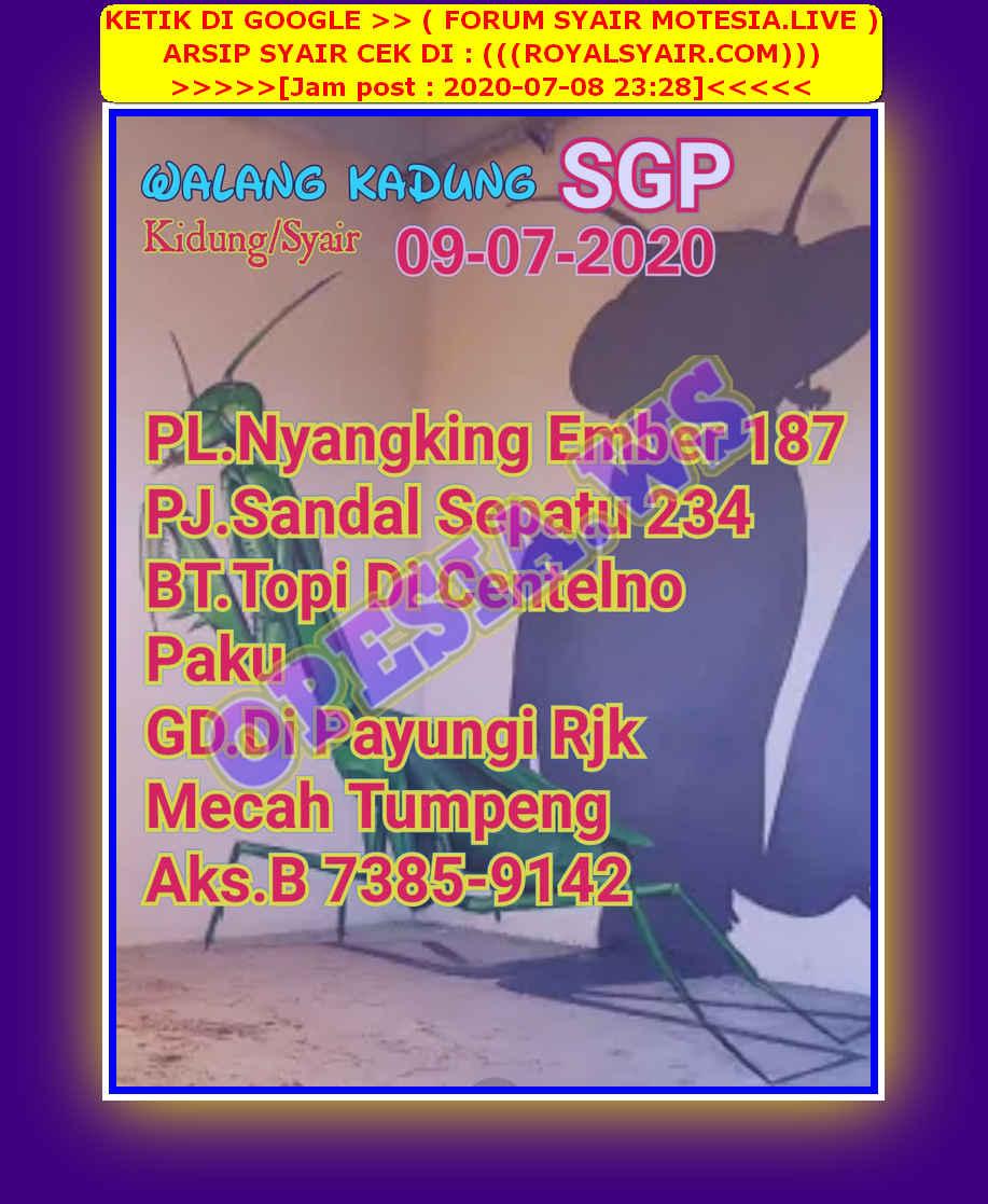 Kode syair Singapore Kamis 9 Juli 2020 55