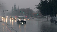 Winter deluges like this one in Fresno, Calif. in December are expected to become more common as the climate changes. (Credit: David Prasad/Flickr) Click to Enlarge.