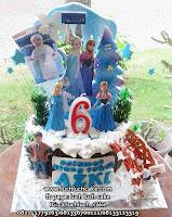 Kue Ulang Tahun Frozen Biru