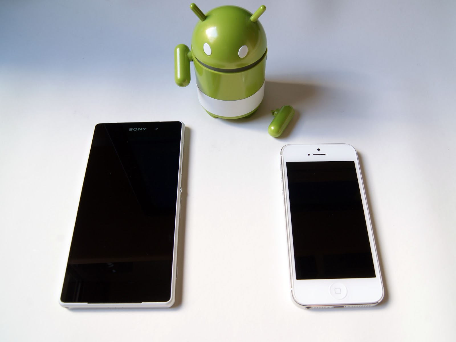 Sony Xperia Z2 tamaño comparado con iPhone 5
