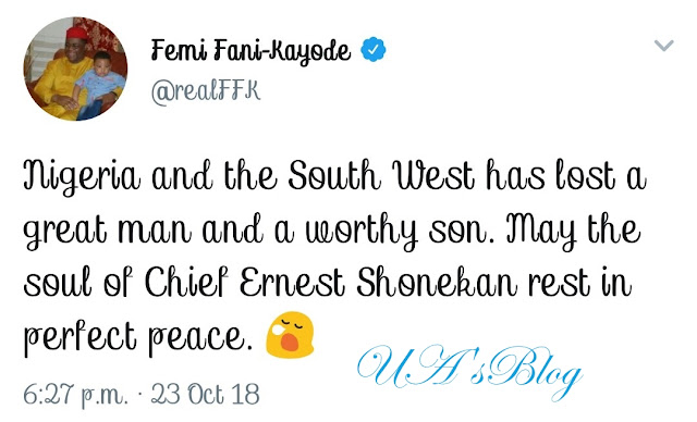 BREAKING: Chief Ernest Shonekan Is Dead