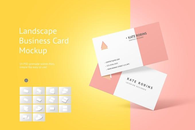 Landscape Business Card Mockup 4581825