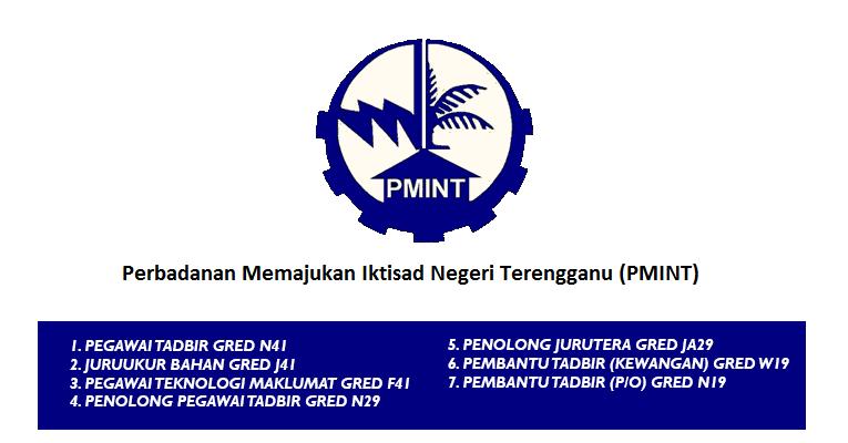 Jawatan Kosong di Perbadanan Memajukan Iktisad Negeri Terengganu PMINT