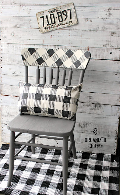 DIY Buffalo Checked Chair & Pillow