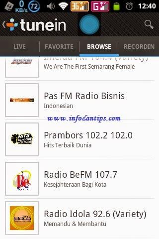 Sebagian gadget android sudah dilengkapi dengan fungsi radio FM Aplikasi Android untuk Mendengarkan Radio Online