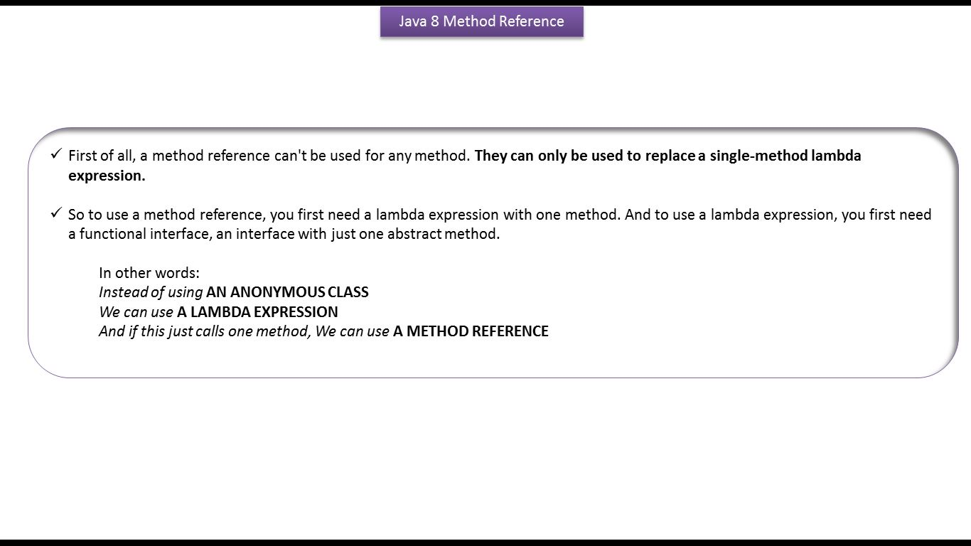 Java Ee How To Use Method Reference In Foreach Method Of List