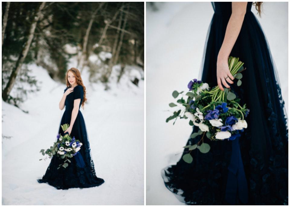 Mariage: Mariage bleu d'hiver