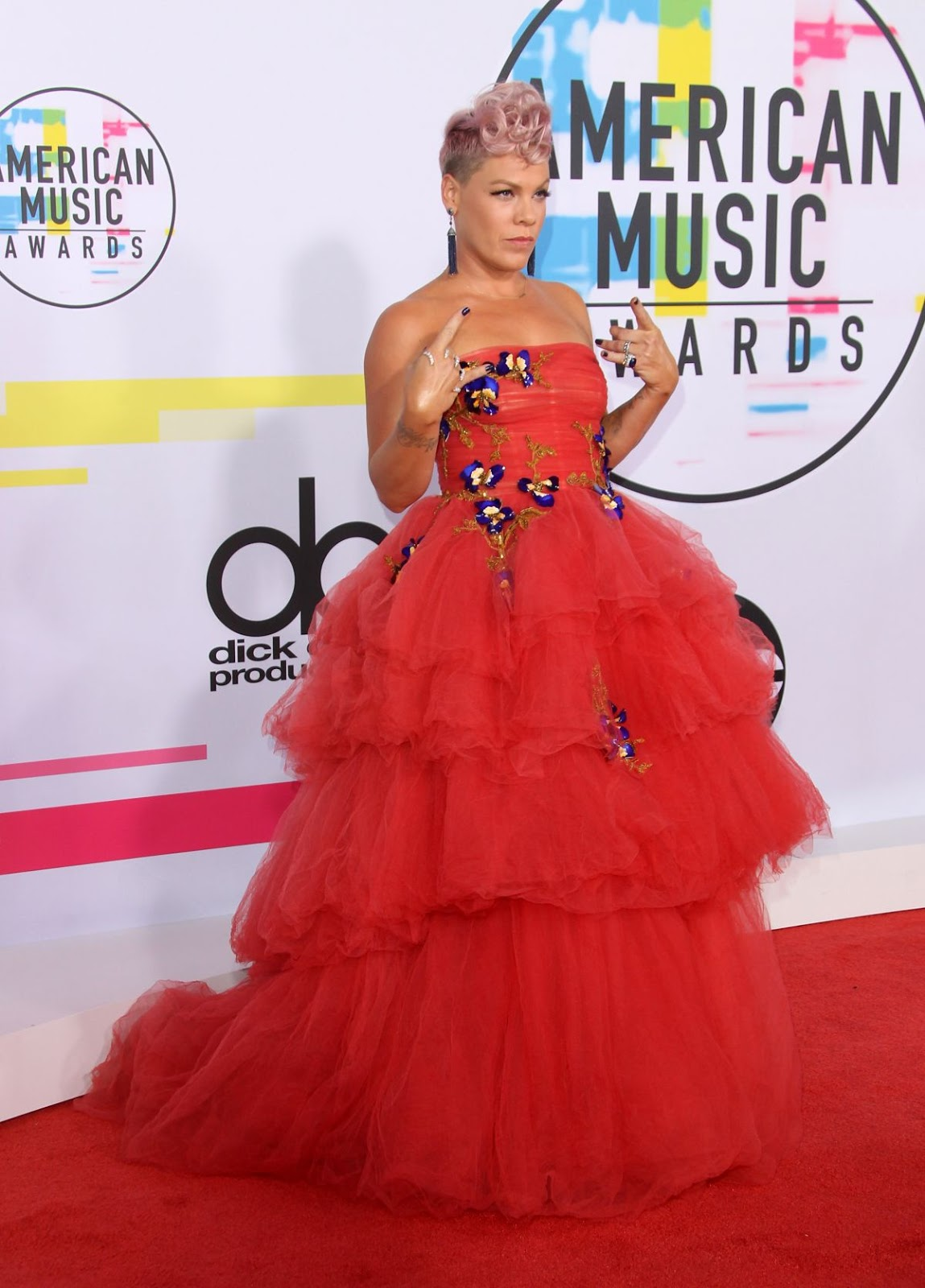Pink at American Music Awards 2017 at Microsoft Theater in Los Angeles