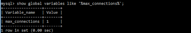 MySQL max_connections variable