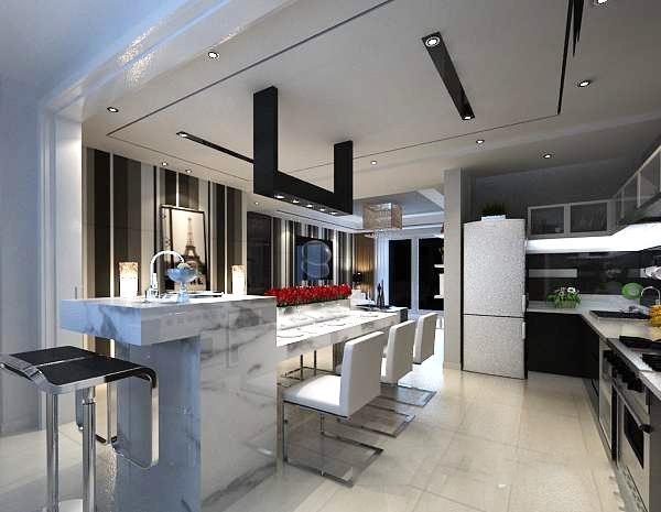 Kitchen bar 3d model free 3ds max