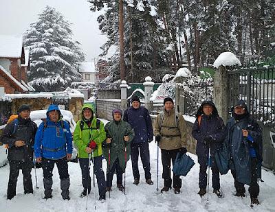 Senderismo Aranjuez nieve Cercedilla