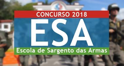 Concurso Escola de Sargento das Armas ESA 2018