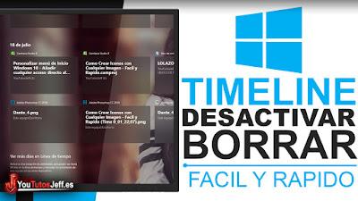 como desactivar linea de tiempo en windows 10
