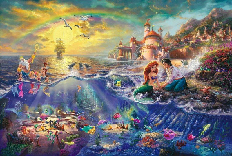 Thomas Kinkade Little Mermaid Painting
