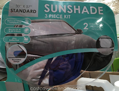 Interior auto temperatures can exceed 20 degrees above exterior without the Winplus Auto Sunshade 3 Piece Kit