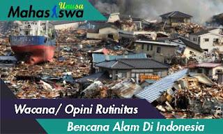 opini bencana alam di indonesia