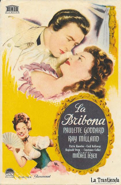 La Bribona - Programa de Cine - Paulette Goddard - Ray Milland