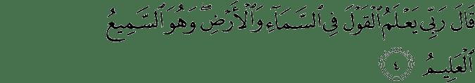 Surat Al Anbiya Ayat 4