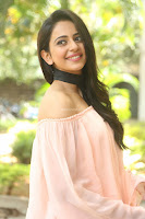 Rakul Preet Singh in lovely Pink Crop Top and Black Trousers at Jaya Janaki Nayaka success meet 024.JPG