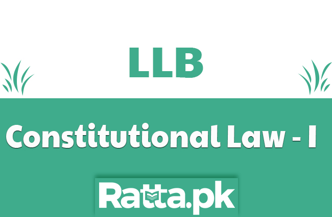 LLB Part 1 Constitutional Law-I  Past paper 2019