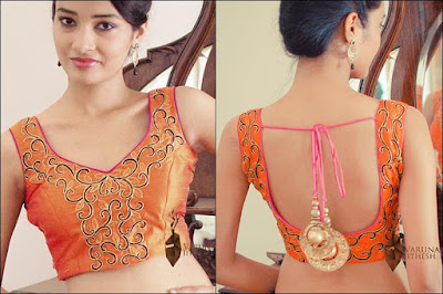 stylish-blouse-back-neck-designs-for-sarees-catalogue-7