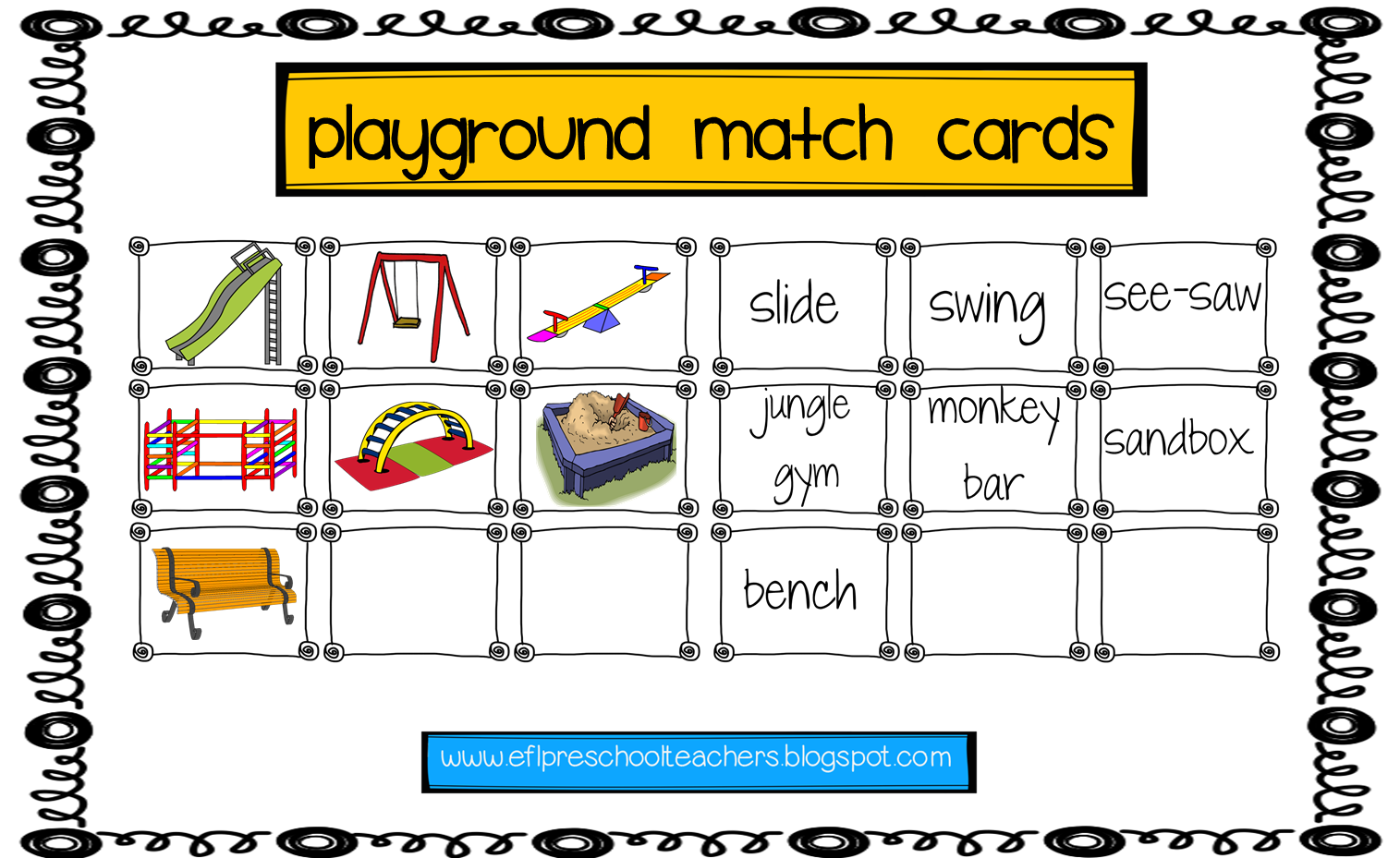 Esl Efl Preschool Teachers Playground Recess Park