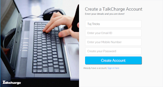 Talkcharge sign up Offer