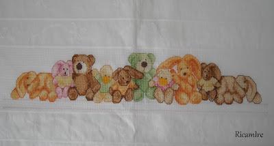 Lenzuolino orsetti for Lenzuolini punto croce per bambini