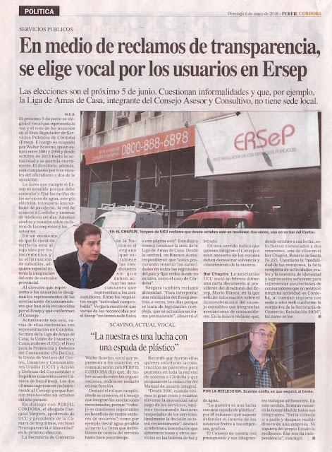 ERSEP: Elección de vocal en representación de los usuarios