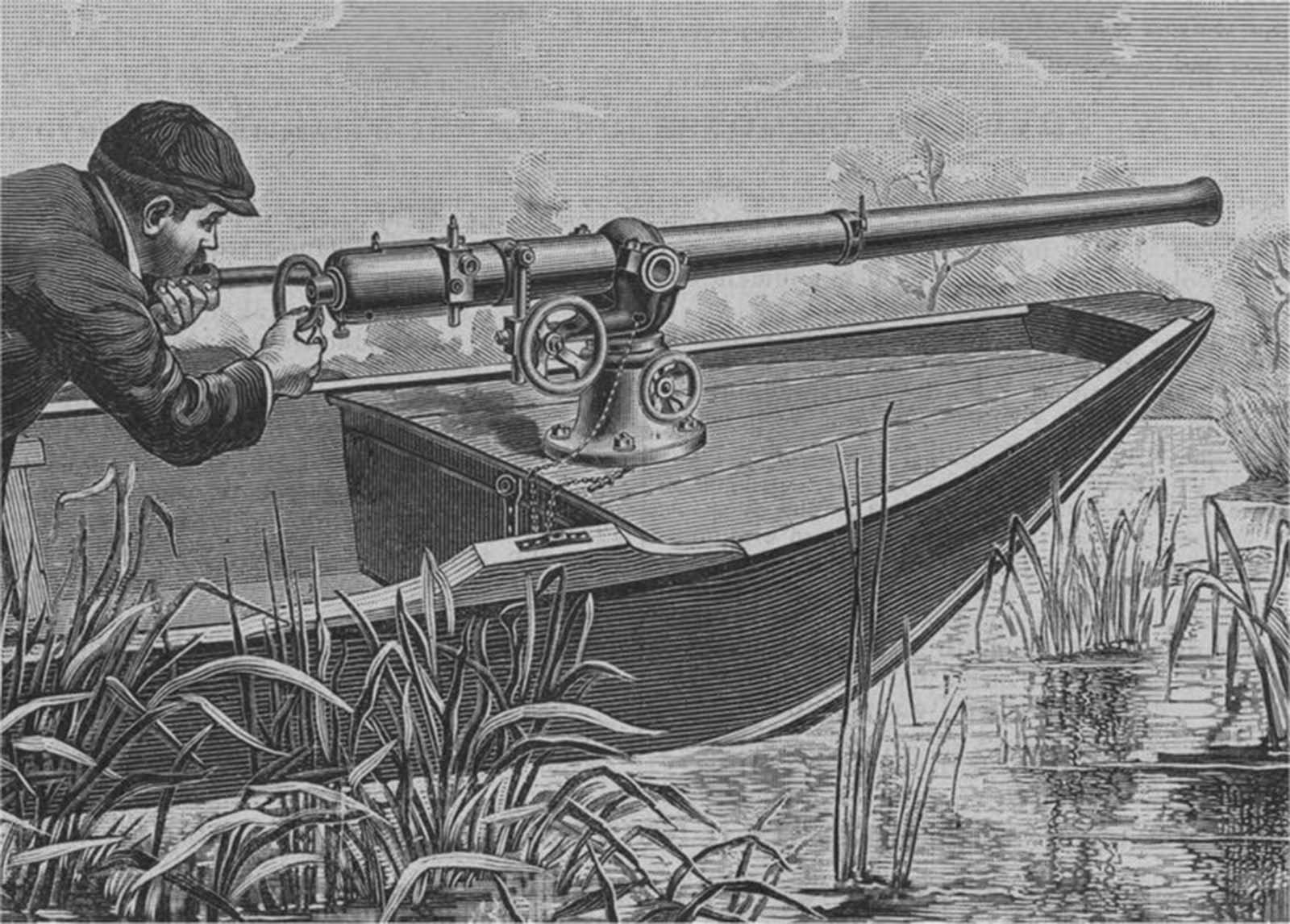 The punt gun depicted in a magazine.
