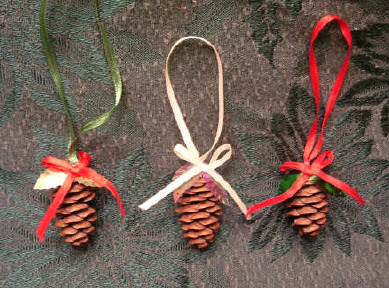 Sparkling Pinecone Ornaments 1