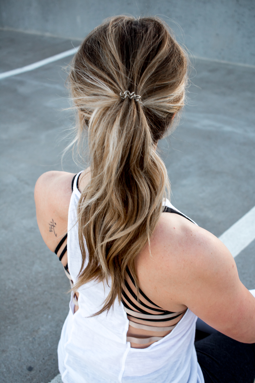 strappy back tank and sports bra
