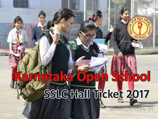 KOS SSLC Hall Ticket 2017, Karnataka Open School SSLC 2017 Hall Tickets