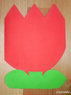kartka tulipan na Dzień Matki