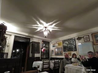 Locanda Montin, Venice, ceiling light